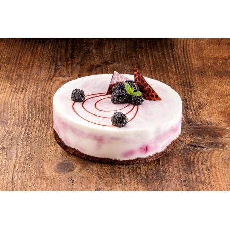 Tvarohovo jogurtový dort s ostružinami